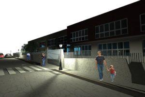 scuola Ururi vista notturna ingresso principale
