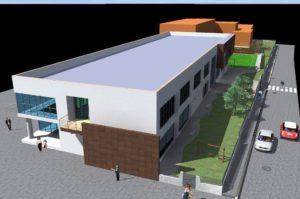 scuola Ururi vista della fascia dedicata al verde